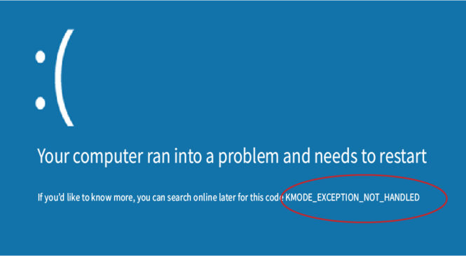 How to Fix kmode_exception_not_handled Error on Windows 10